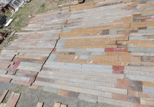 Genuine Antique Pine Wide Plank Tongue & Groove Flooring 700 sq ft Old 498-16
