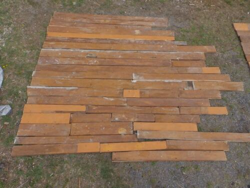 Genuine Antique Pine Wide Plank Tongue & Groove Flooring 81 sq ft Old 511-16