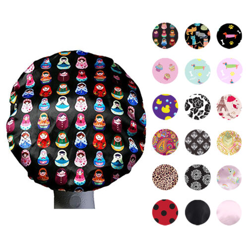 Dilly's Collections Premium MICROFIBER Lined Shower Caps Hair Care Adults / Kids