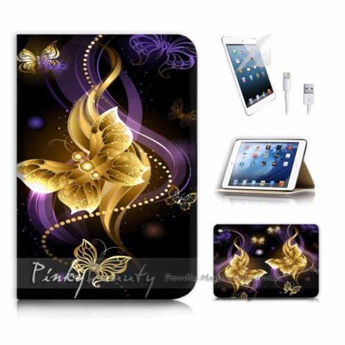 ( For iPad mini 4 ) Smart Cover & Base Case P2719 Butterfly