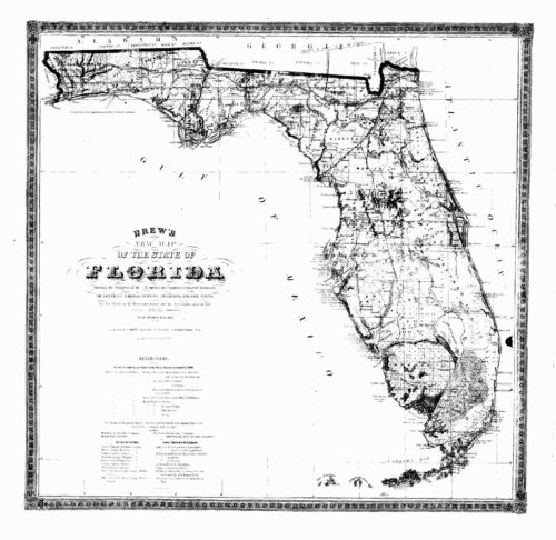1870 FL MAP Lighthouse Point Live Oak Lockhart Longboat Key Longwood Lower Keys