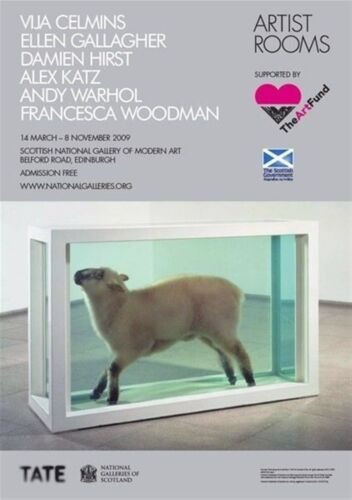 DAMIEN HIRST 'Away from the Flock (Lamb in Formaldehyde)' UK Exhibition Poster