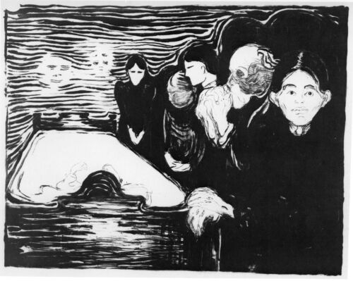 Edvard Munch Prints: By The Deathbed - Fine Art Print