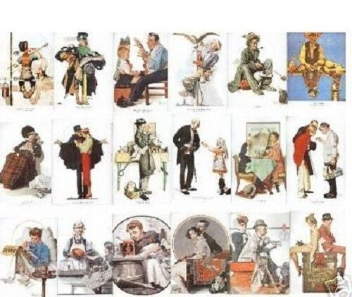 Norman Rockwell BARGAIN GRAB BAG - 10 assorted vintage prints! Less than $1 each