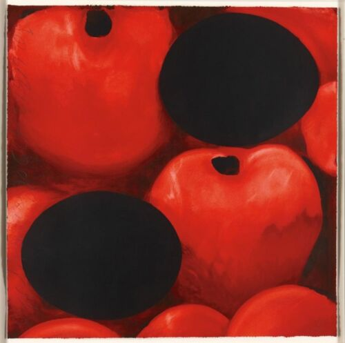 DONALD SULTAN 'Red Apples & (Black) Eggs' 1999 SIGNED 30-Color Silkscreen Print