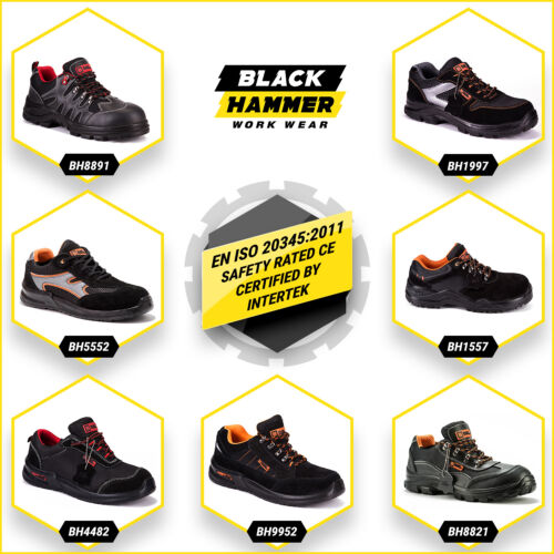 Mens Safety Trainers Shoes Boots Work Steel Toe Cap Composite Hiker Ankle SRC  <br/> ✔Lightweight  ✔Mid Sole Protection ✔S1P ✔CE Certified