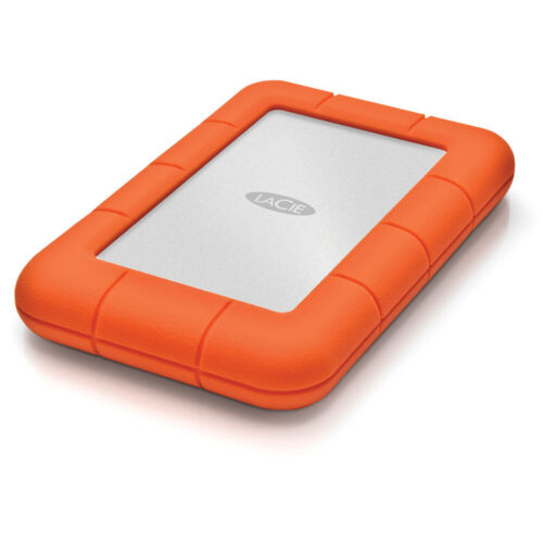 LaCie Rugged Mini 1TB HDD External 2.5 USB 3.0 Portable Hard Drive Protected