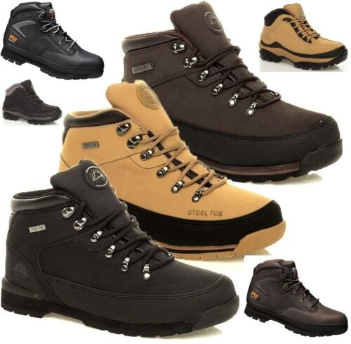 MENS GROUNDWORK SAFETY STEEL TOE CAP BOOTS LIGHTWEIGHT SHOE WORK TRAINERS S 3-13