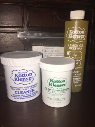 Complete Old Wood Antique Cleaner & Restorer Kit - KOTTON KLENSER Restoration