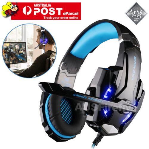 EACH 3.5mm Gaming Headset MIC LED Headphones G2000 for PC Laptop PS4 Xbox One