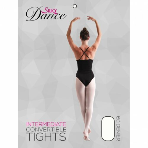 Children's Convertible Ballet Tights Girls Dance Tights in Pink 60 Den Ages 3-13