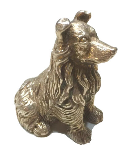 Vintage Russian Or Continental Sterling Silver 925 Figurine Of A Dog Hallmarked