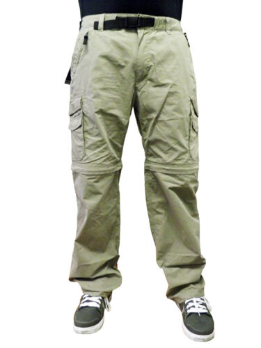 BC Clothing Men's Convertible Cargo Pants Shorts Cement Army Green Charcoal