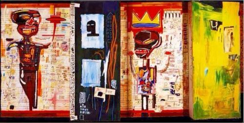 """Jean Michel Basquiat Oil Painting on Canvas wall decor 20x40"""" Expressionism art"""