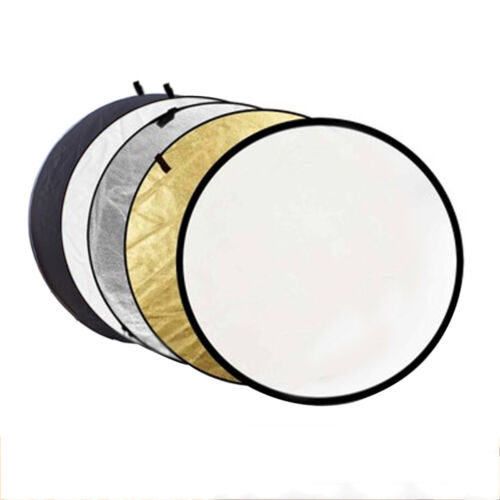 """5-in-1 110CM Photograph Disc Collapsible Light Reflector Studio Multi Photo 43"""""""
