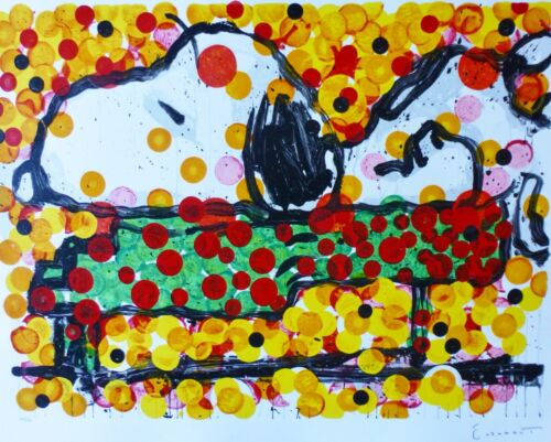 TOM EVERHART  Play that Funky Music Snoopy PEANUTS  Hand signed Lithograph 2003