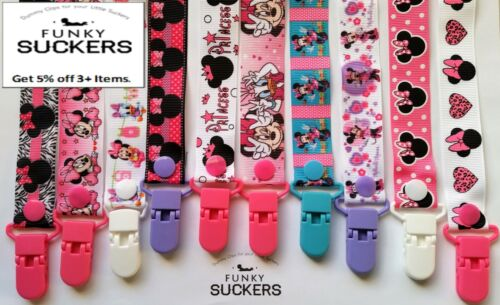 MINNIE MOUSE / MICKEY / DISNEY Dummy Clip / Dummy Clips / Pacifier Clips / Chain
