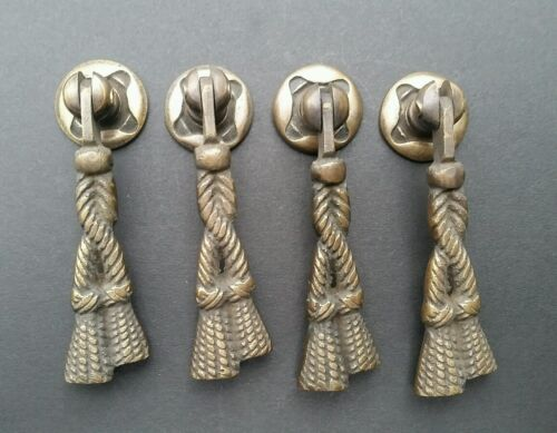 """4 Rope and Tassle Handles Pulls Antique Classic Style 2 3/4"""" #H5"""