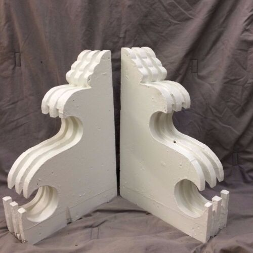 Pair Antique Corbels Shabby Cottage Vintage Chic 1919-16