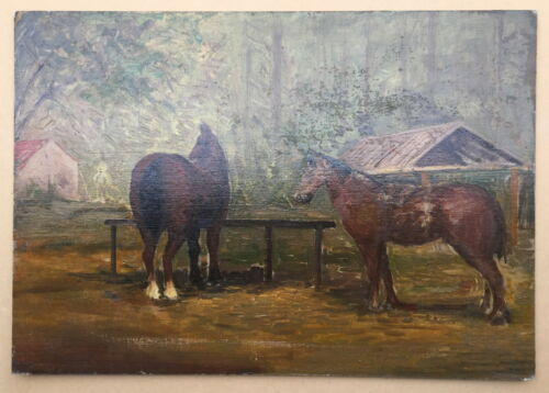 Horses Oil Painting
