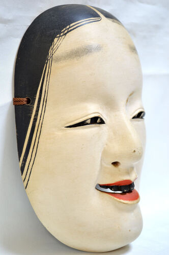Wooden! Japanese Traditional Noh Mask WAKA-ONNA Demon Kagura Kabuki Samurai