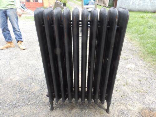 Antique Steam Radiator 10 Sections Cast Iron Old Plumbing Heating 2338-16 (6)