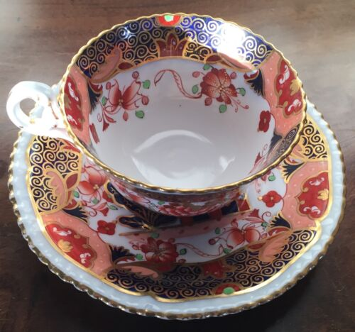 Antique 19th c. Copeland Spode Imari Porcelain 967 Tea Cup & Saucer
