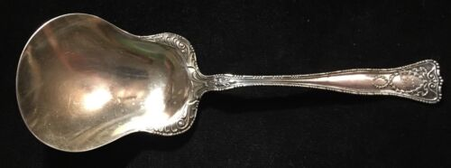 "Sterling Silver Flatware - Gorham New Empire Berry Spoon ""M"" Monogrammed"