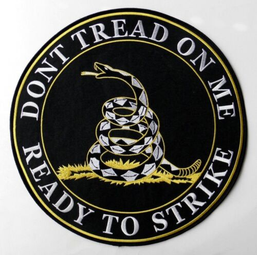 Don't Tread on Me 2nd Amendment Embroidered Jacket Patch 12 inchesOther Militaria - 135