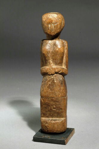 Antique folk wooden ethnic doll from Gujarat India 1910 approx
