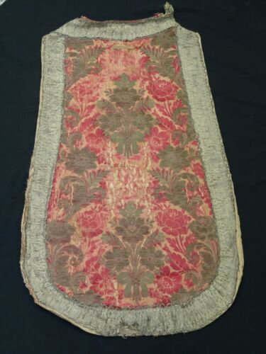 ANTIQUE 17th CENTURY ECCLESIASTICAL EMBROIDERY STOLE VESTMENT PIECE