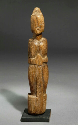 Ethnic antique folk wooden doll from Gujarat India, 1910 approx.