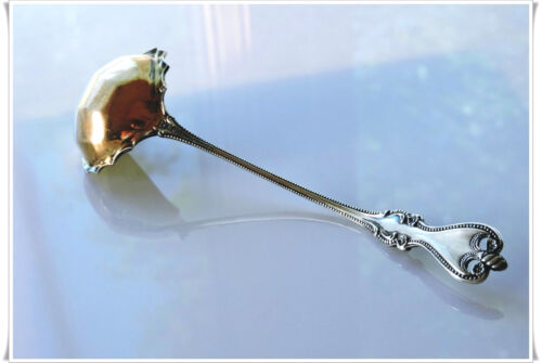 Towle Old Colonial Sterling Silver Sauce Ladle Spoon with Gold Wash Bowl