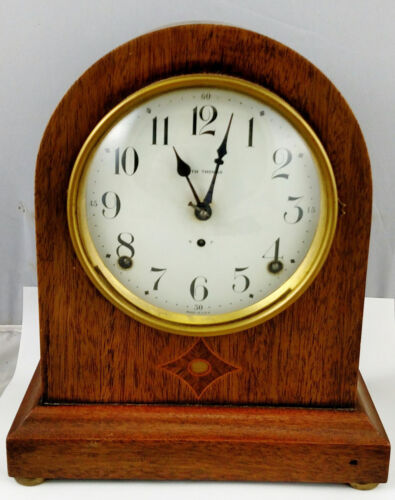 Large Antique AMERICAN 19th C Wooden  SETH THOMAS Dome Shelf Mantle CLOCK