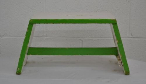 Painted Pine Stretcher-Base Footstool
