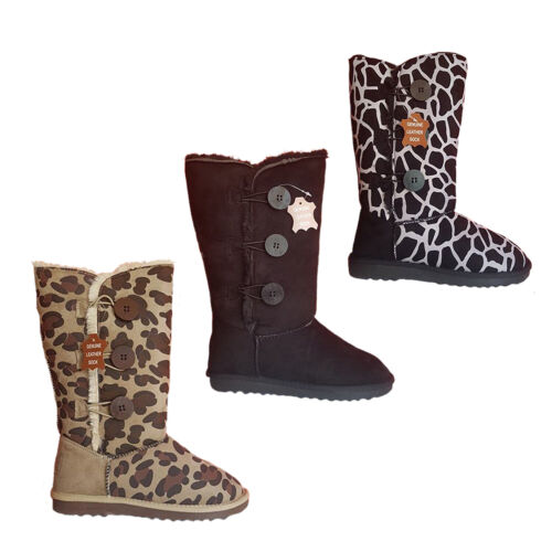 Ladies SOA Mammoth Winter Slippers Boots Pull On Boot Size 6-11 Faux Fur Lining