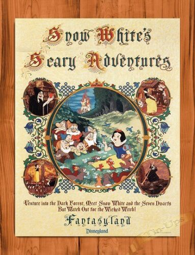 Disney Snow White's Scary Adventure Attraction Ride Art Movie Poster TIN SIGN