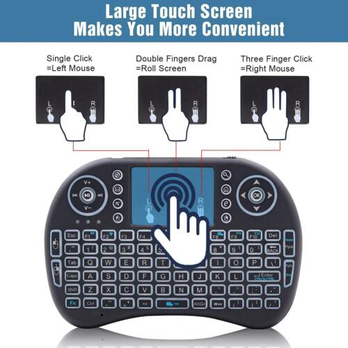i8 2.4Ghz Mini Wireless Keyboard Remote Controls Touchpad for Android TV BOX PC