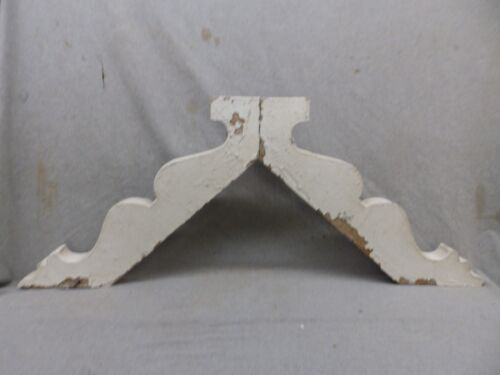Antique Pair Wood Gingerbread Corbels Shabby Cottage Chic Vintage 317-17R
