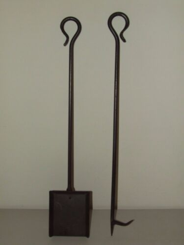 Vintage Pair of Hearth Fireplace Tools; Shovel & Poker