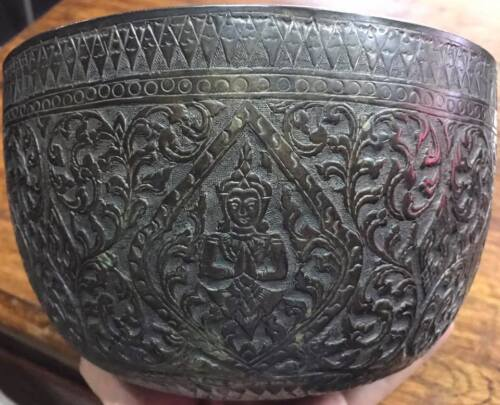 Antique Thai Silver Box 925 Figurative Decoration Collectibles Good Product
