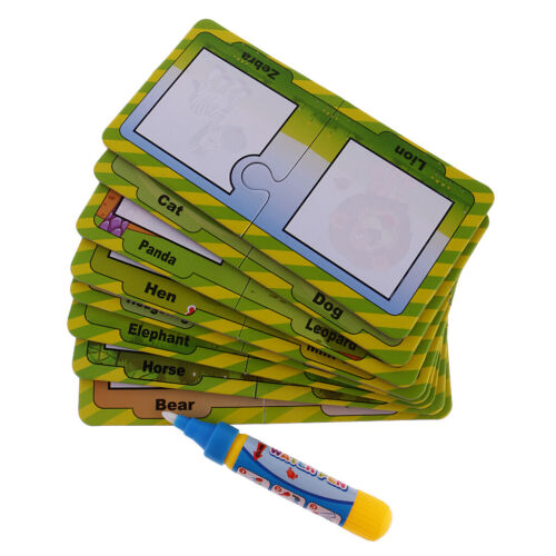 Magic Water Coloring Painting Cards w/ Pen Toddler Educational Doodle Toy Gift