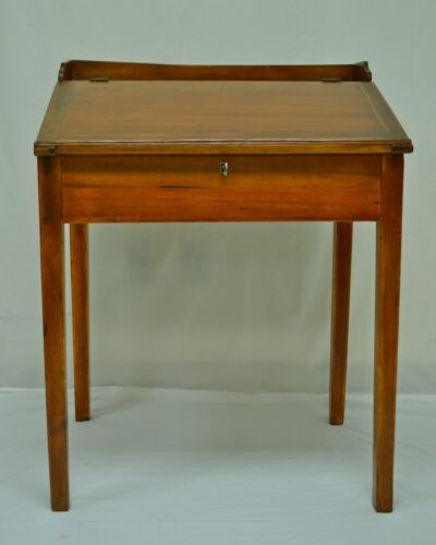 Antique Pine and Poplar Schoolmaster's Desk