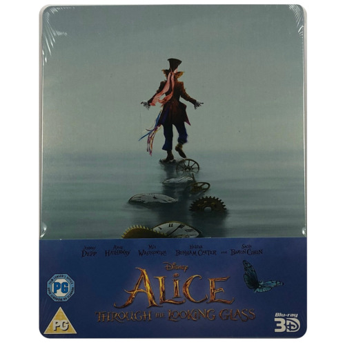 Alice Through The Looking Glass 3D Steelbook - UK Exclusive Ltd Edition Blu-Ray