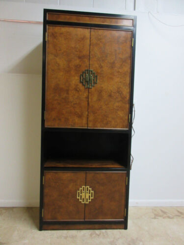 Century Furniture Asian Campaign Chinoiserie Bar Liquor Curio Cabinet shelf