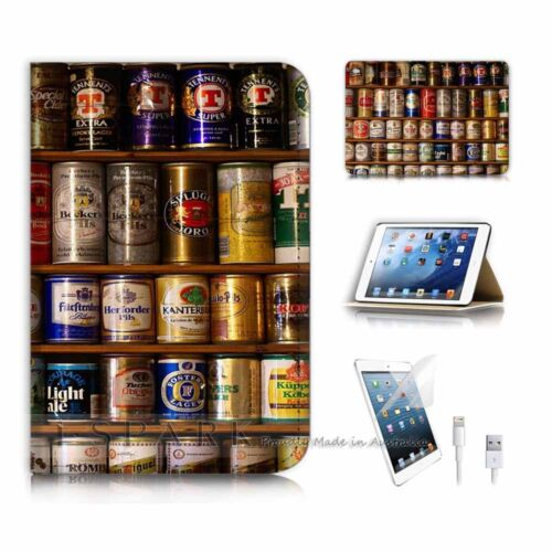 ( For iPad mini 4 ) Smart Cover & Base Case P9907 Beer Can Collection