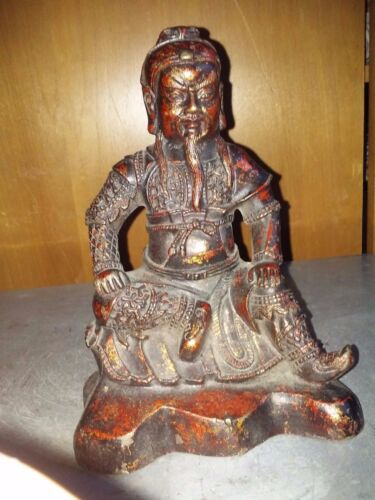 China Antique  Copper coated with gold Kwangong中国古铜涂金关公
