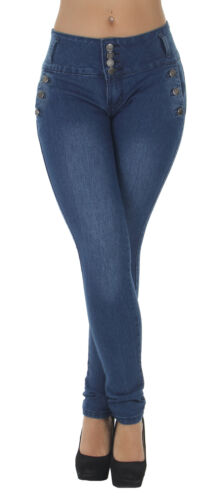 Style G472P - Plus Size, Colombian Design, High Waist, Butt Lift, Skinny Jeans