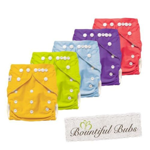 Bamboo Cloth Nappy with 4 layer Bamboo Booster Insert