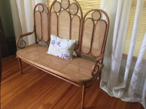 Original Thonet Bentwood Bench in Amazing Condition -FREE ROCKING CHAIR INCL.